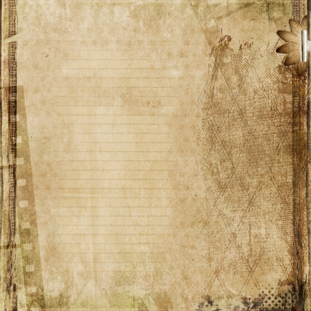 family memories: Grunge paperboard background