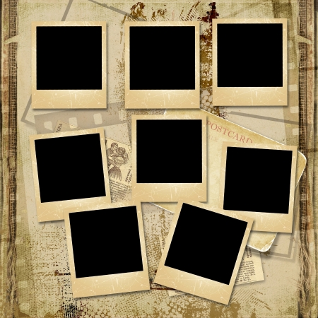 photoalbum: Vintage background with stack of old frame