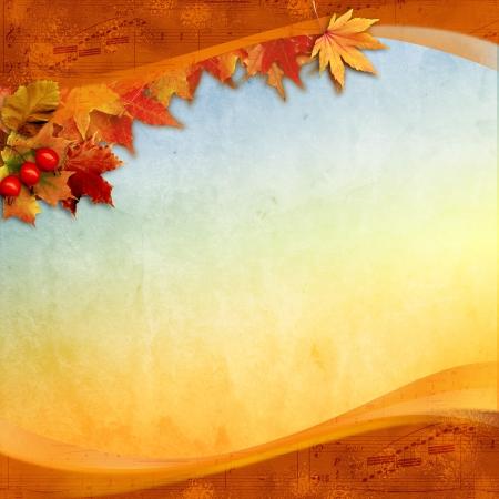 Old Autumn card photo