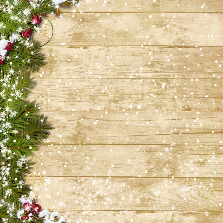 Christmas wooden board Stock Photo