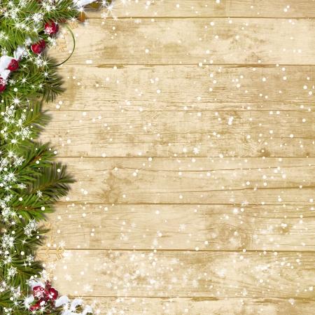 Christmas wooden board Standard-Bild