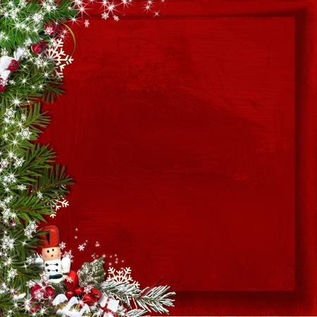 赤いクリスマスの背景