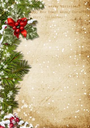 Vintage Kerst achtergrond Stockfoto
