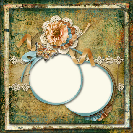 Vintage gorgeous background with photo-frame  photo