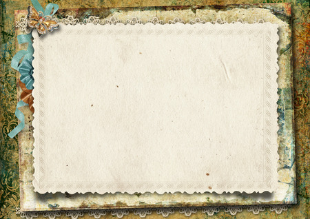 Vintage gorgeous background with card  Stock Photo