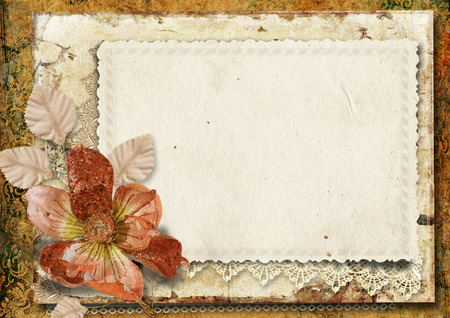 Vintage background with gorgeous flower  Stock Photo