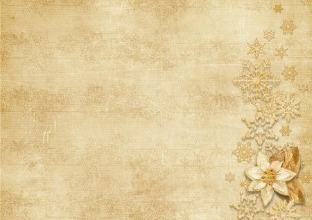 雪の結晶クリスマス ビンテージ背景