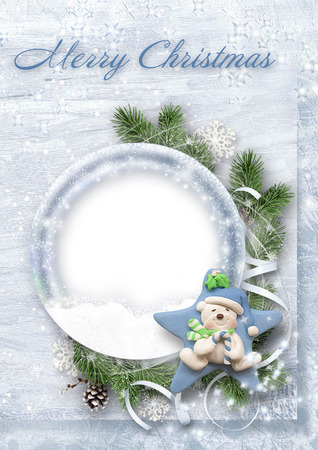 snow drifts: Sweet Christmas card for congratulations and family photos