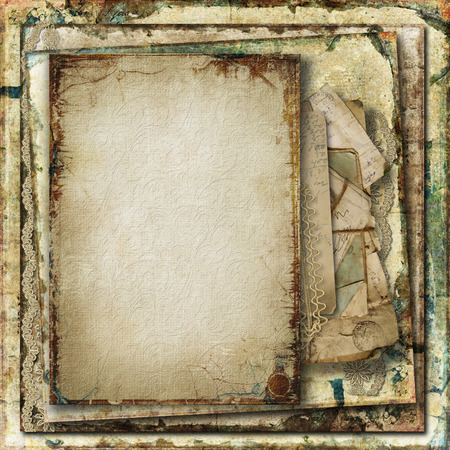paper old: Grunge gorgeous background with old cards
