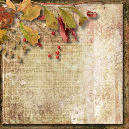 Vintage autumn background