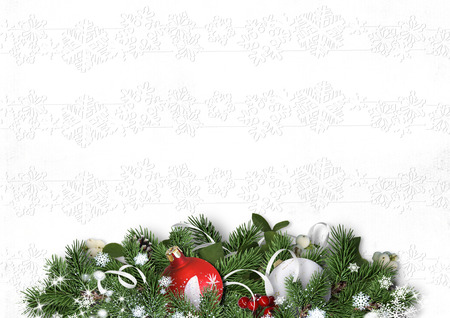christmas decorations with white background: white background with Christmas decorations