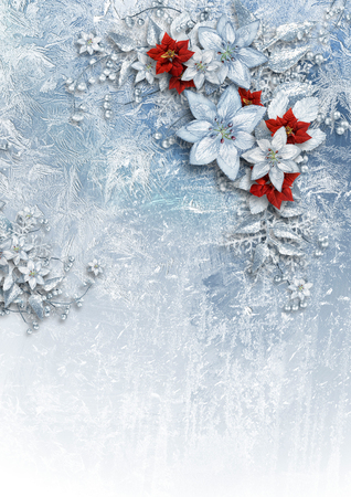 gorgeous: Christmas card with gorgeous winter flowers