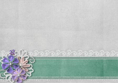 decoratif: fond texturé avec des fleurs à la frontière et à la main