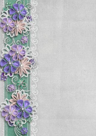 eleganz: Herrlicher Hintergrund mit Blumen Grenze
