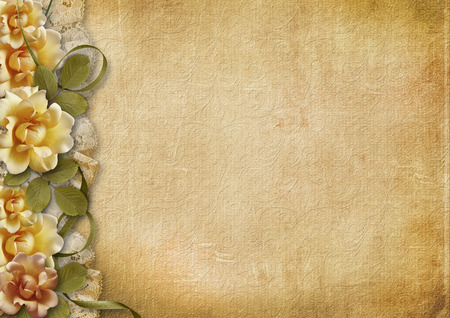 Vintage background with beautiful roses