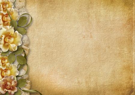 photoalbum: Vintage background with beautiful roses
