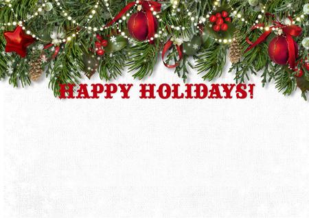 holidays: happy holidays card