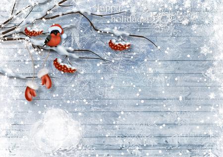みごととベリー クリスマス カード。楽しい休暇をお過ごしください