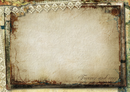 Grunge background with old cards