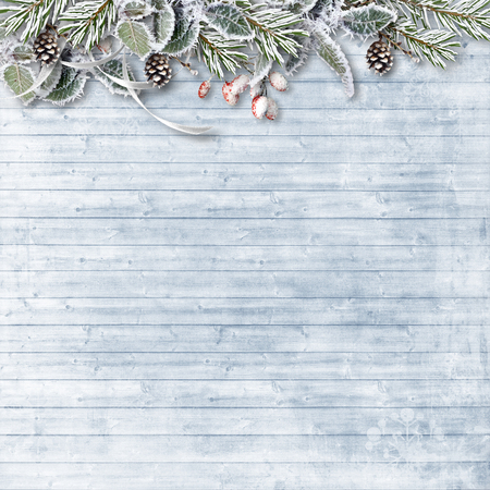 Christmas firtree with snow