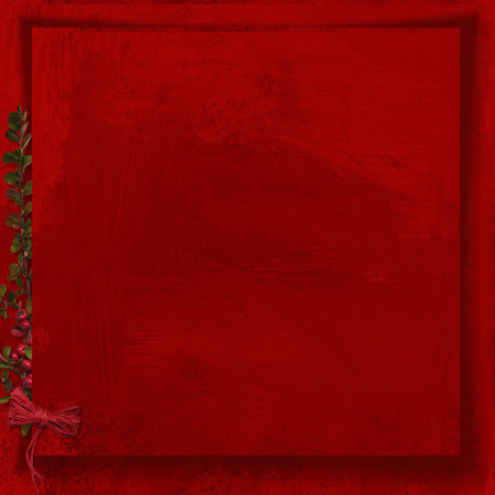 Greeting holiday red background with copy space