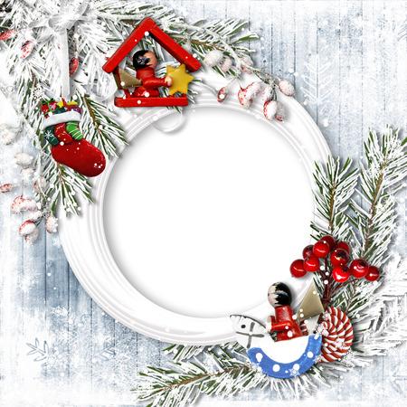 Christmas traditional greeting card