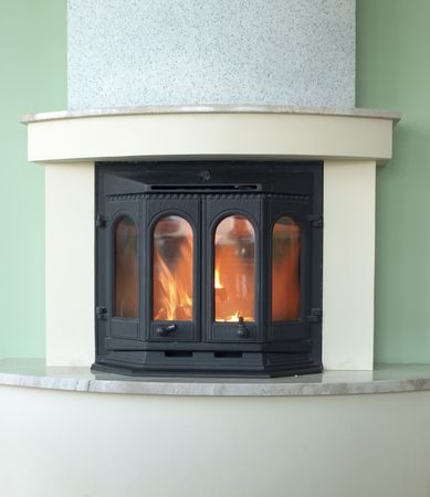 mantelpiece: fireplace