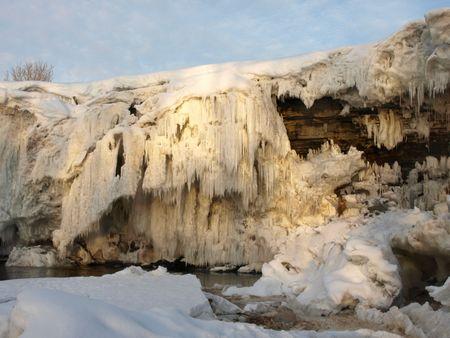 Frozen waterwall Jagala in the Estonia Stock Photo - 6694139
