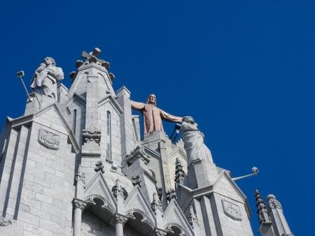 sagrat cor: Statue of Jesus above Church Sagrat Cor