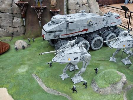 episode: Billund, Denmark - June 11, 2011: New lego miniland exebition - episode from Star Wars