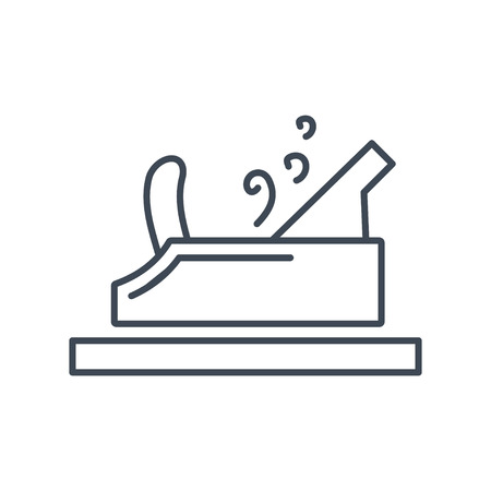 thin line icon jointer plane