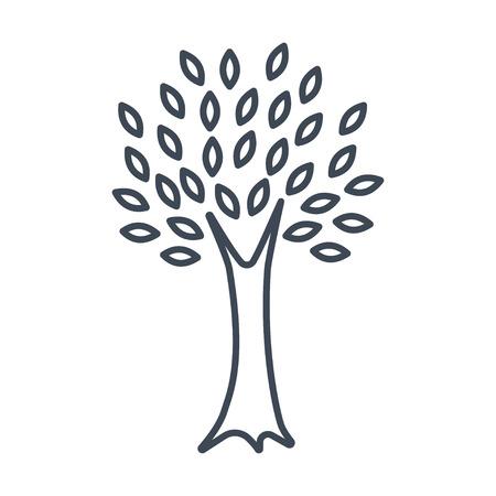 thin line icon tree Ilustrace