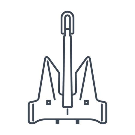 thin line icon anchor