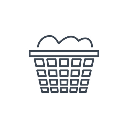thin line icon dry cleaning, laundry basket Ilustrace