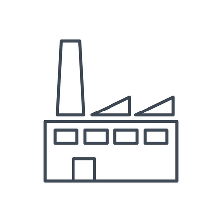thin line icon plant, factory, works, manufactory