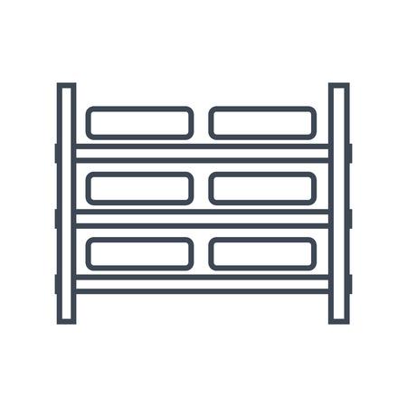 thin line icon rack storage