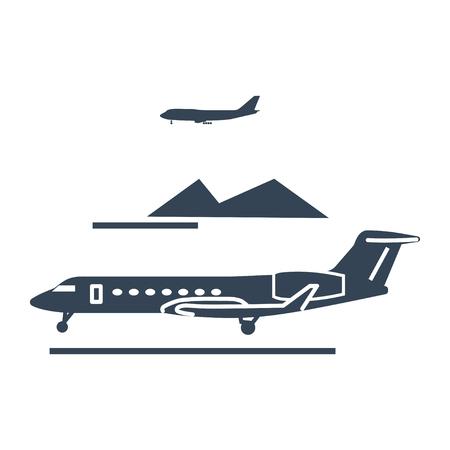 black icon private business jet