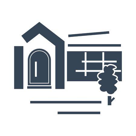 black icon shop, bar, restaurant exterior building