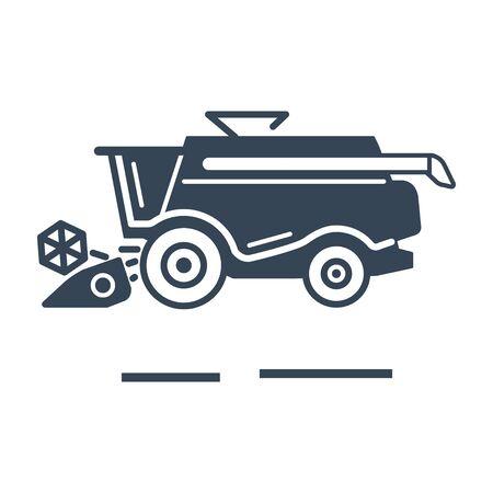 black icon harvester machine, combine