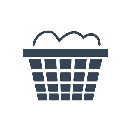 black icon dry cleaning, laundry basket Vectores