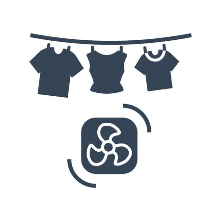 black icon laundry, dry cleaning, clothes drying