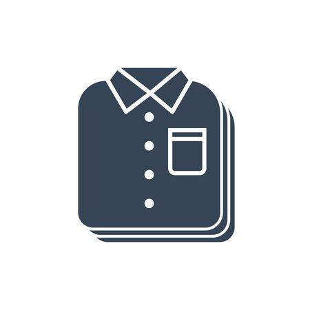 black icon laundry, dry cleaning, folded clothing, shirt Illustration