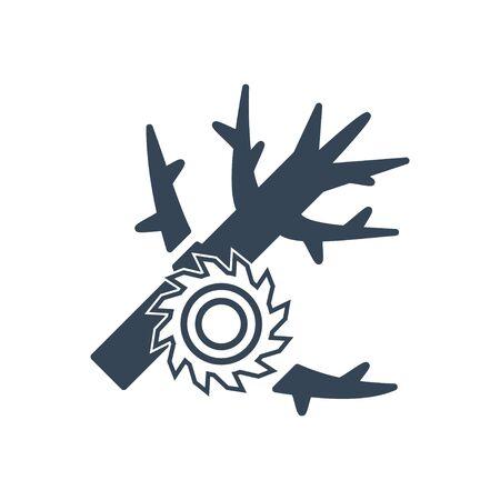 black icon lumber, wood, logging industry, cutting tree, limbing, saw