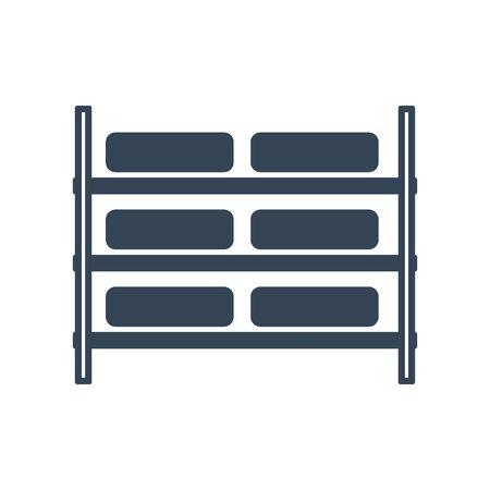 black icon rack storage, box 写真素材 - 134855165
