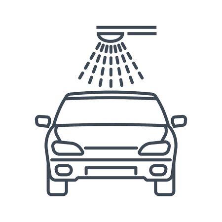 Thin line icon car washing