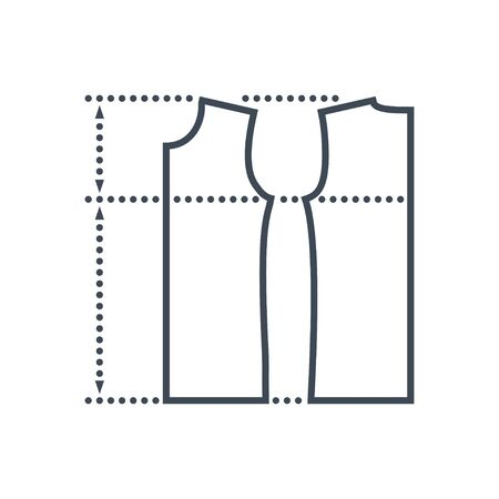 Thin line icon garment industry, sewing clothes pattern