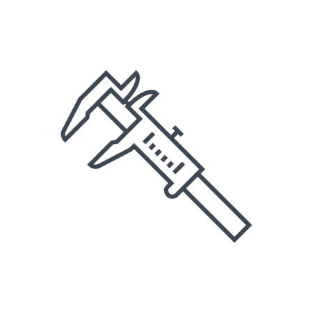 Thin line icon calipers, measuring tool  イラスト・ベクター素材
