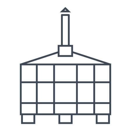 Thin line icon storage tank for wine, juice, primary fermentation 向量圖像