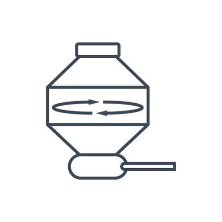 Thin line icon centrifuge, industrial equipment