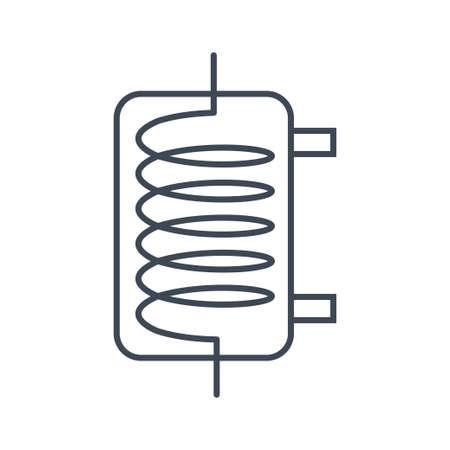Thin line icon beverages industry, distiller